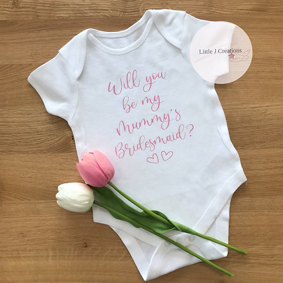 Mummy's Bridesmaid Baby Vest