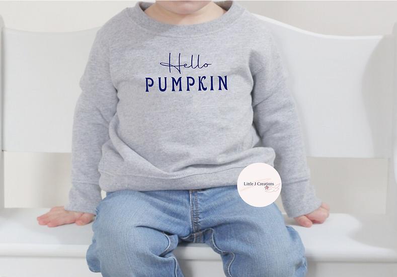 Babies Hello Pumpkin Sweater