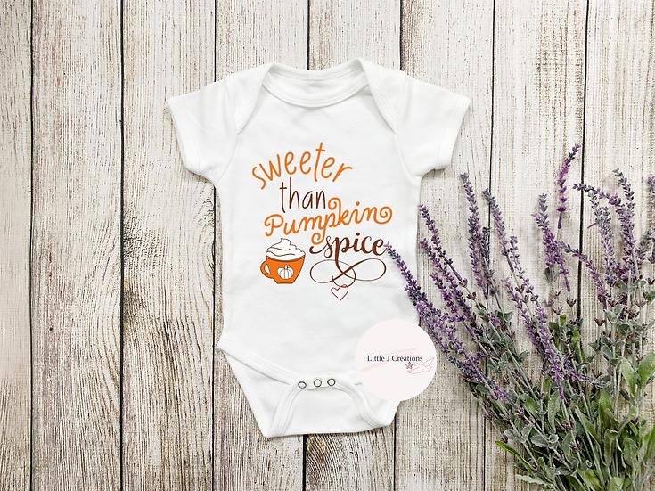Sweeter Than Pumpkin Spice Baby Vest