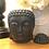 Thumbnail: Small Black Buddha Head Oil Burner