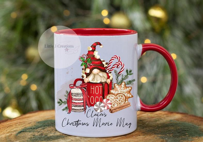 Personalised Gonk Christmas Movie Mug