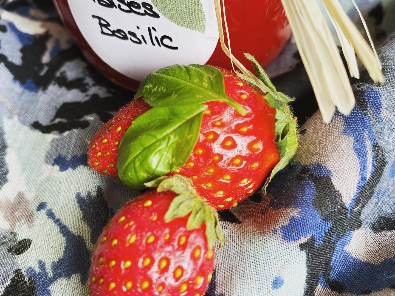 Confiture fraises/basilic