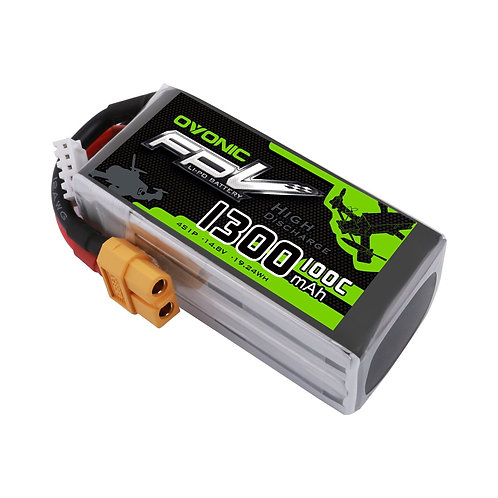 OVONIC 1300mAh 4S 14.8V 100C LiPo Battery