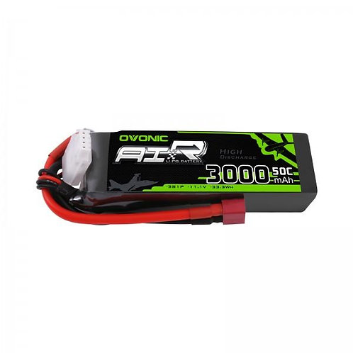 Ovonic 11.1V 3000mAh 3S 50C LiPo with Deans Plug