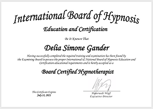 Zertifikat hypnose international