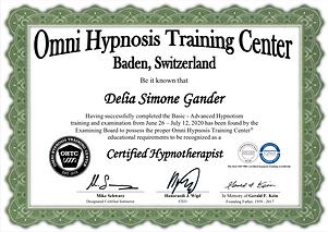 Zertifikat omni hypnose