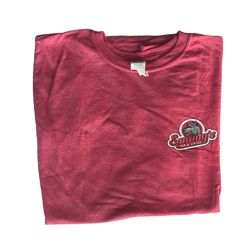 Light Red Short Sleeve Crewneck