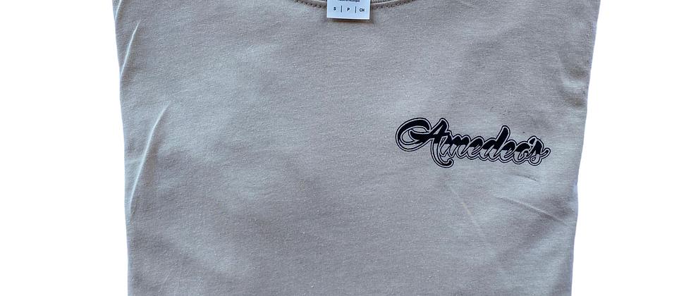 Short Sleeve Beige T-Shirt (Black Logo)