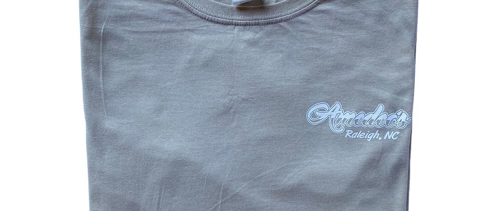 Short Sleeve Beige T-Shirt (White Logo)