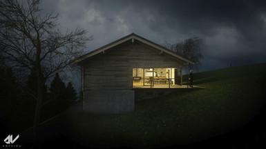 Wohnhaus im Wald