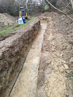 Ground Source Heat Pump Trenches