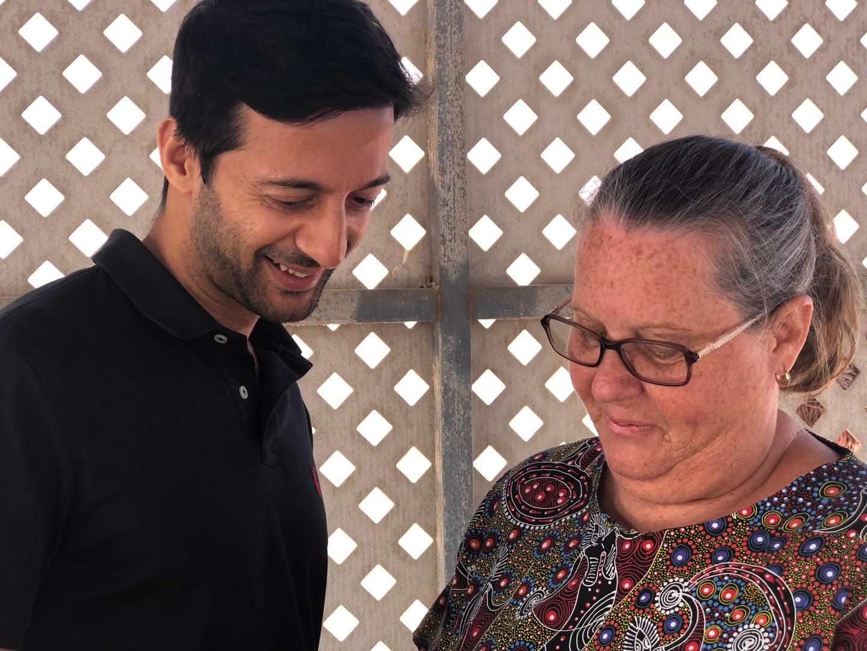 Dr Amar and Karen Smith