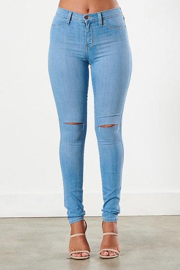 Knee Slit Jeans