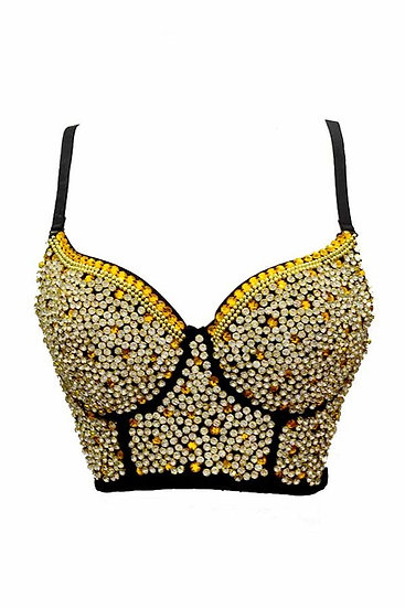 Gold Beaded Bustier