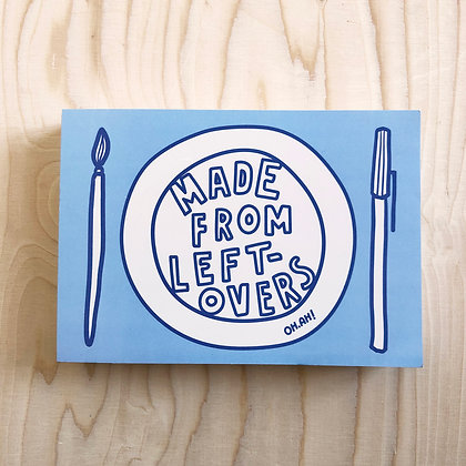 MADE FROM LEFTOVERS sketchpad blue