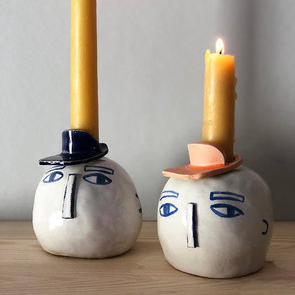 LET´S FACE IT nose candleholder