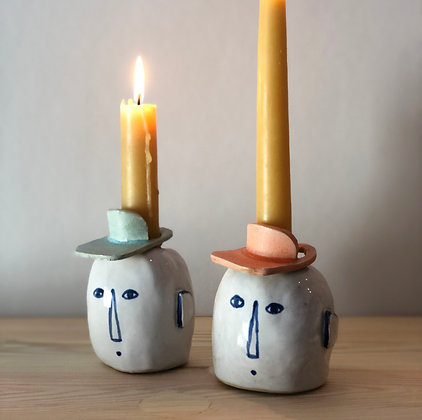 LET´S FACE IT ear candleholder