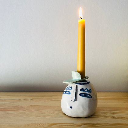 LET´S FACE IT eyebrows candleholder
