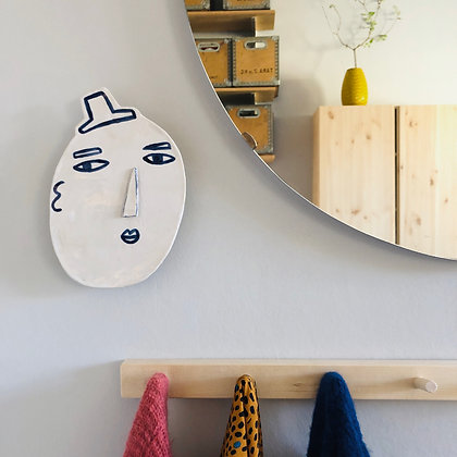 LET´S FACE IT top hat walldecoration