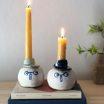 LET´S FACE IT glasses candleholder