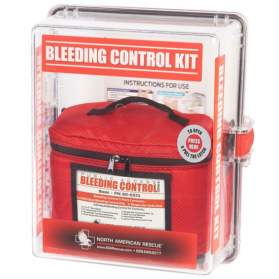 Public Access Bleeding Control Stations - 5-Pack Vacuum Sealed