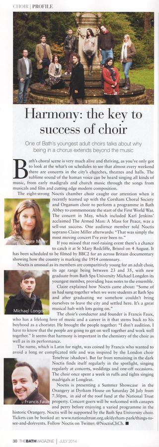 The Bath Magazine - Feature