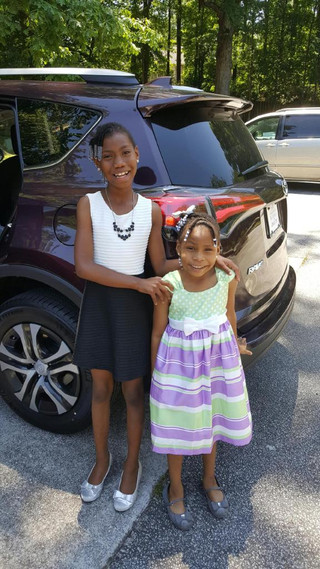 Micayla and Riley at Church