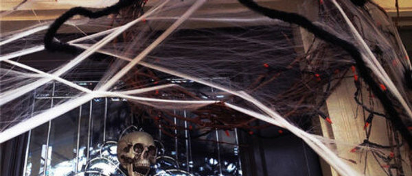 Araña Decoración de Halloween de casa embrujada Utilería Interior Al Aire Libre