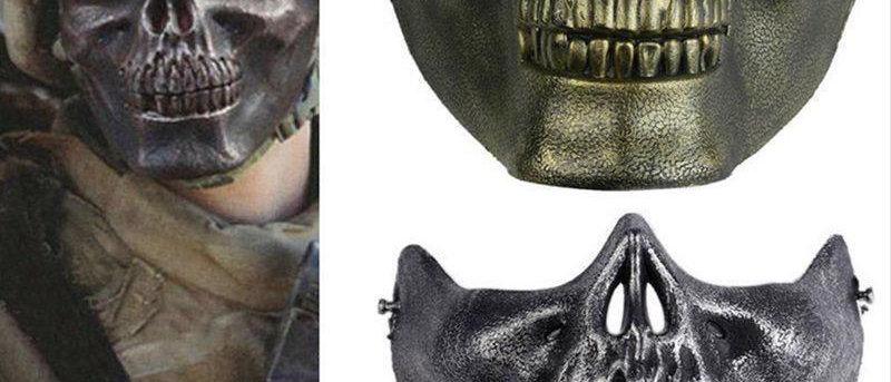 Disfraz-De-Halloween-Fiesta-Mascara-DE-CALAVERA-Airsoft-Moto-Esqueleto-mascar