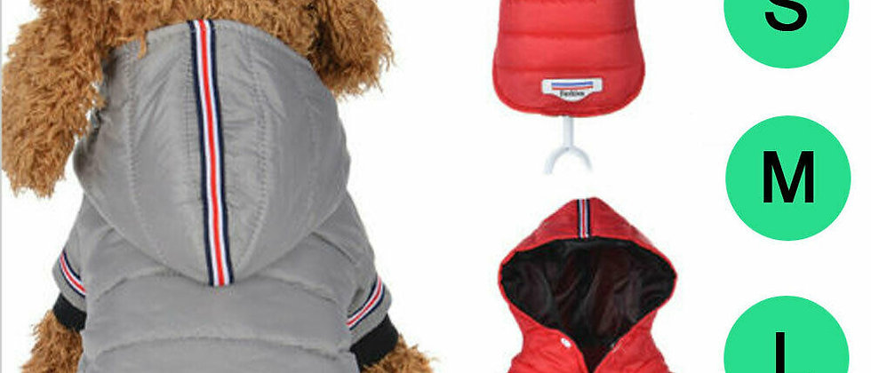Puppy Pet Dog Cat Clothes Hoodie Winter Warm Cotton Jacket Coat Pets Apparel
