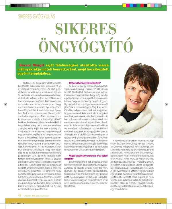 Sikeres Nők 2017 szeptember - Sikeres öngyógyító - Dr. Pappné Boczor Margit