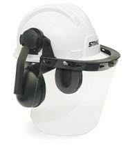 Construction hard hat w\shield