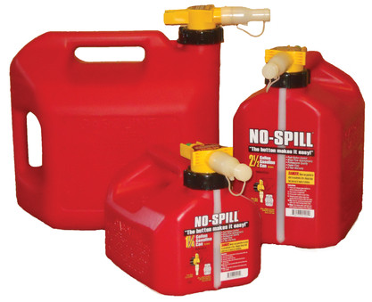 No-Spill Gas Can