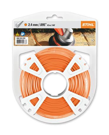 Premium Round Trimmer Line Orange