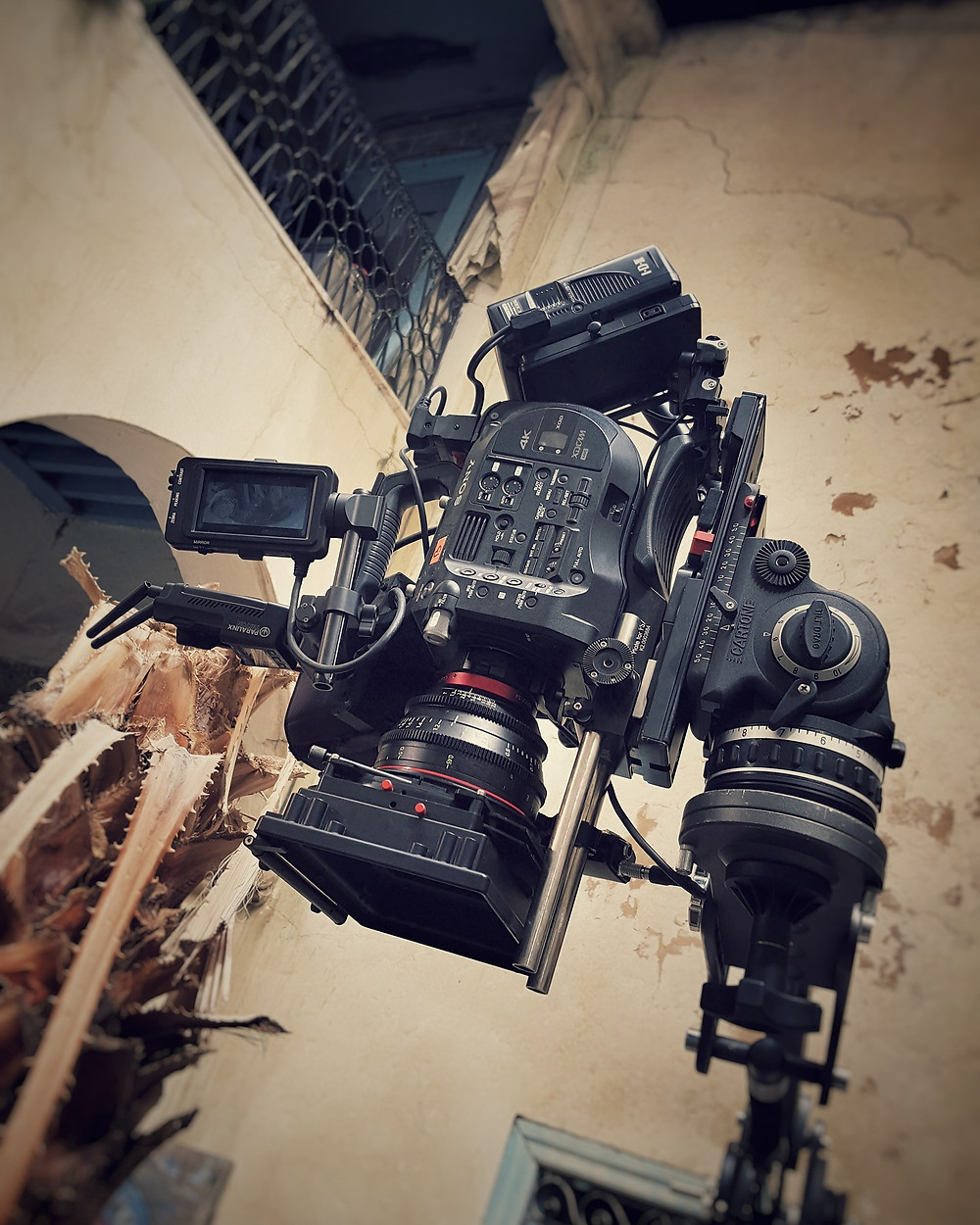 One of our Sony FS7 On a mini Jib arm