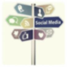 social media roadsign