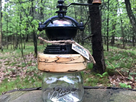 Rosewell Mason Jar Coffee Grinder – Spalted Maple #3