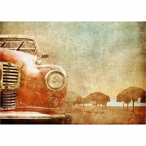 Mint Vintage Red Car