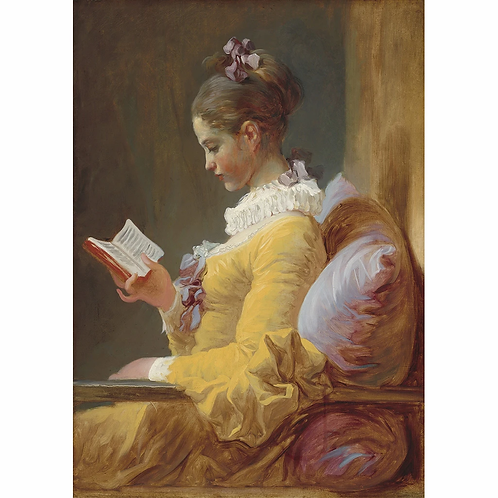 Mint Young Girl Reading