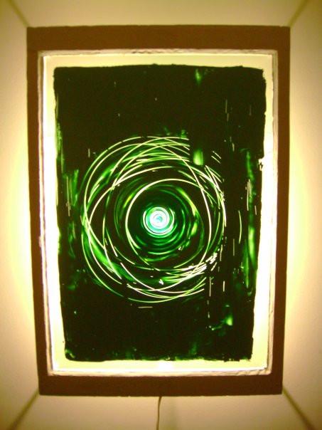 Altair, oil on glass, 2008, 31 x 41