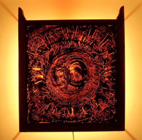 Ascella, oil on glass, 2008, 31 x 33