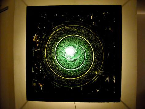 Cursa, oil on glass, 2009, 33 x 33
