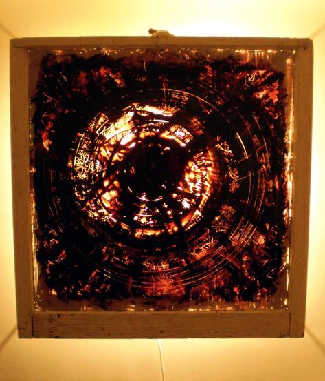 Beid, oil on glass, 2008, 34 x 34