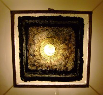 Acubens, oil on glass, 2006, 33 x 33
