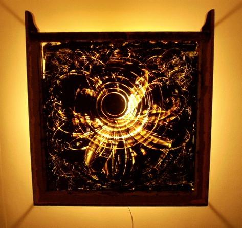 Alchiba, oil on glass, 2007, 28 x 31