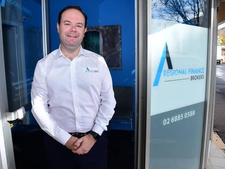 Adam Wiley, Regional Finance Brokers, nominated for Regional Broker of the Year 2020