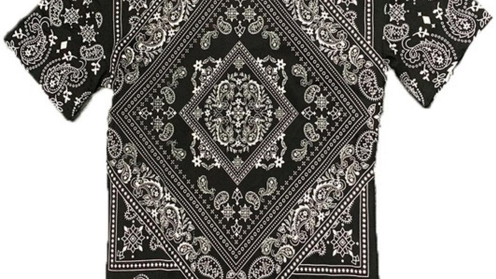 BLACK/WHITE BANDANA SHIRTS