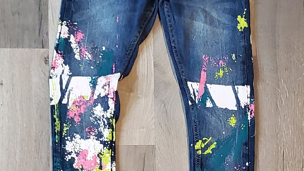 PAINT ALL OVER JEANS