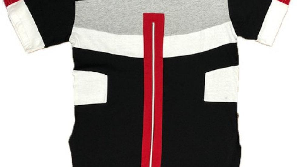 BLACK/RED BLOCK SHIRT