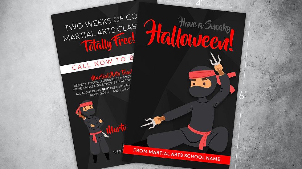 "Halloween Ad Card: ""Sneaky Halloween!"""